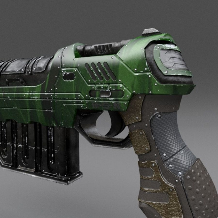 Scifi Gun 01 royalty-free 3d model - Preview no. 9