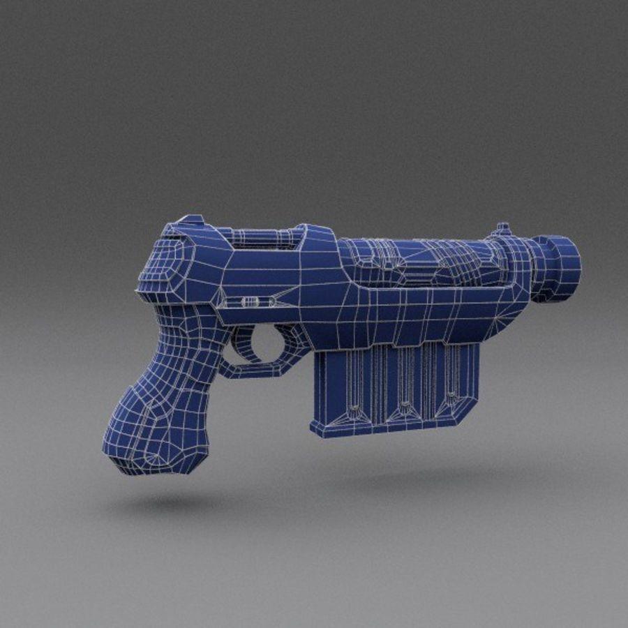 Scifi Gun 01 royalty-free 3d model - Preview no. 4