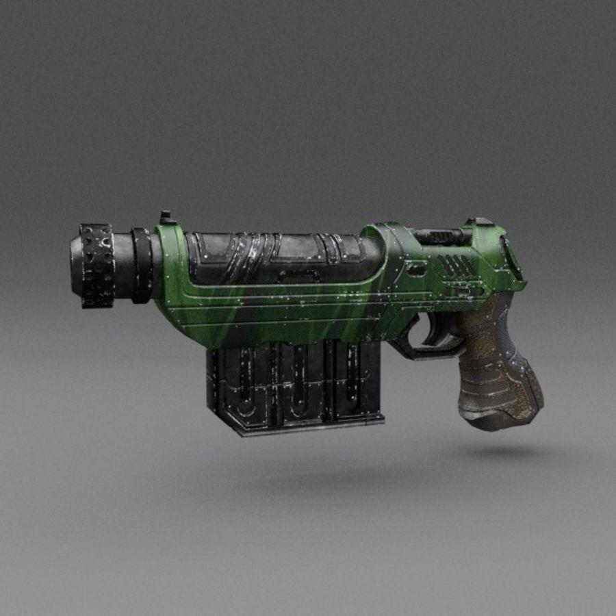 Scifi Gun 01 royalty-free 3d model - Preview no. 1