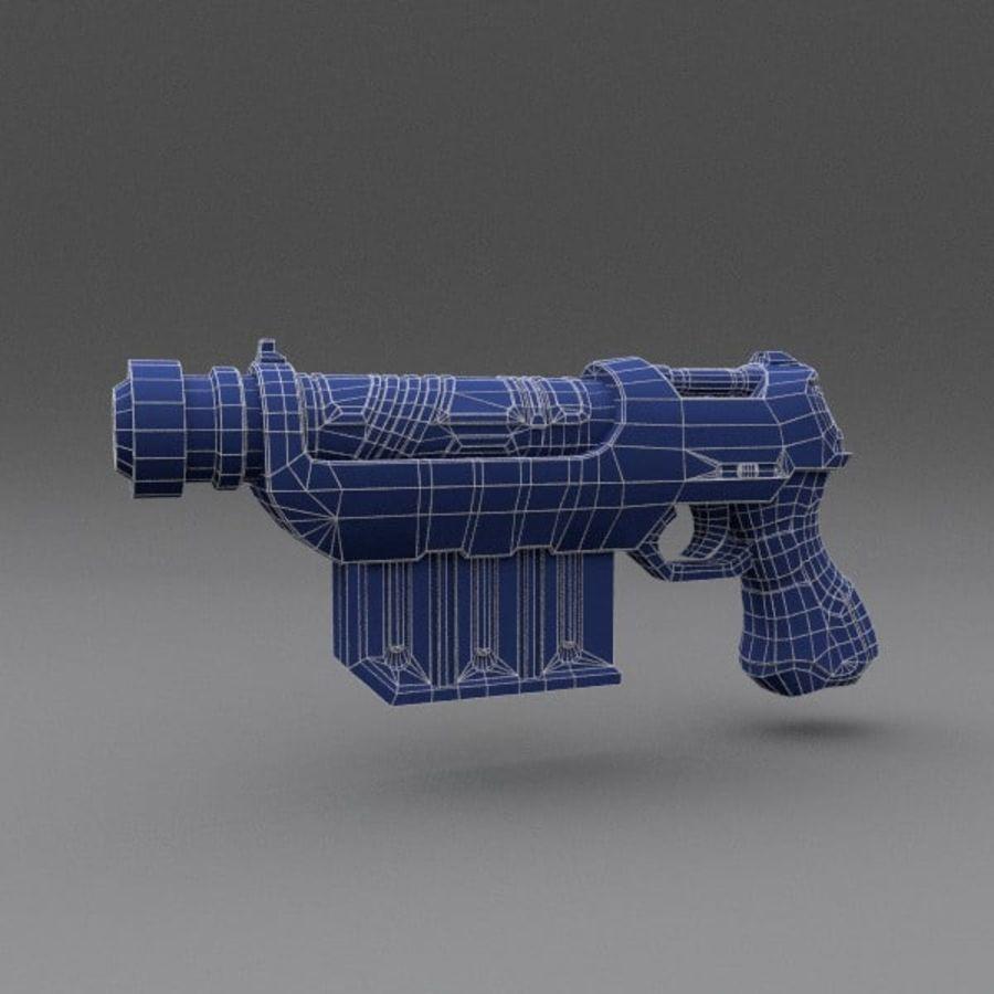 Scifi Gun 01 royalty-free 3d model - Preview no. 2