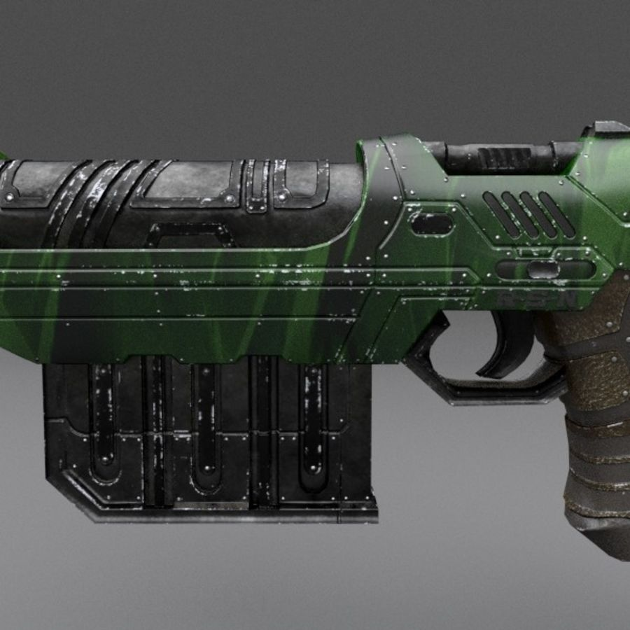 Scifi Gun 01 royalty-free 3d model - Preview no. 7