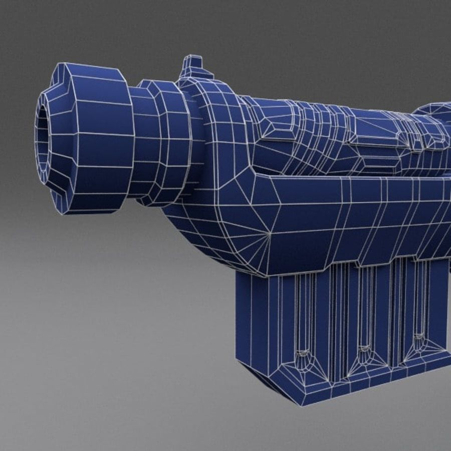 Scifi Gun 01 royalty-free 3d model - Preview no. 6