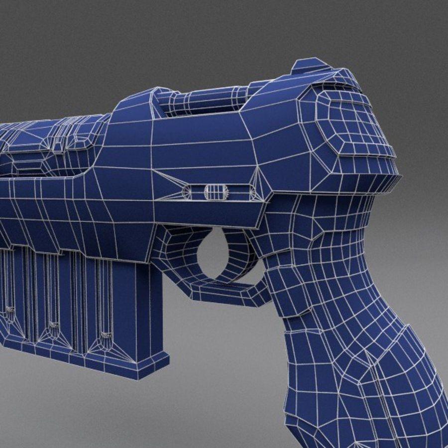 Scifi Gun 01 royalty-free 3d model - Preview no. 10