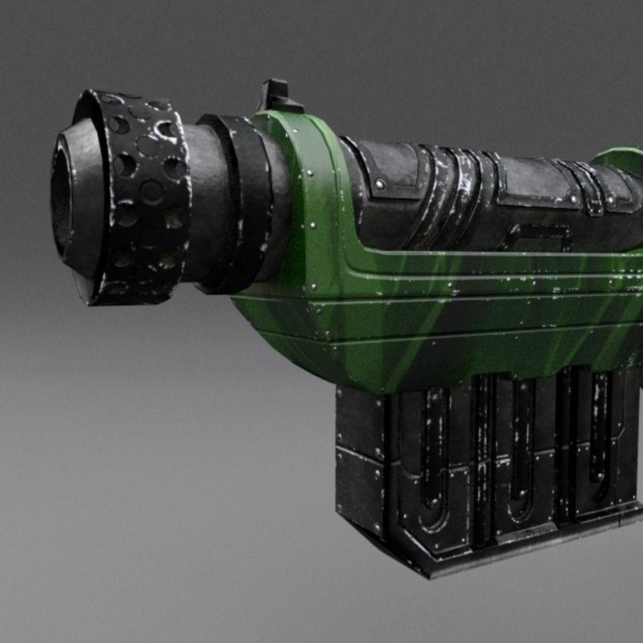 Scifi Gun 01 royalty-free 3d model - Preview no. 5