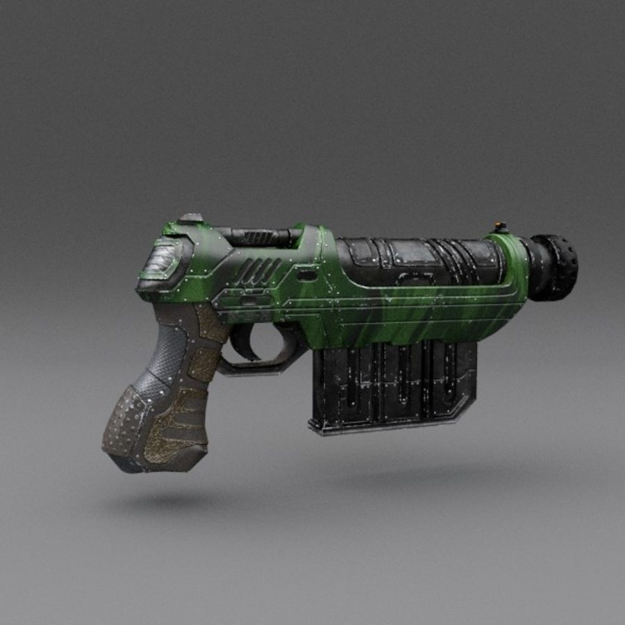 Scifi Gun 01 royalty-free 3d model - Preview no. 3