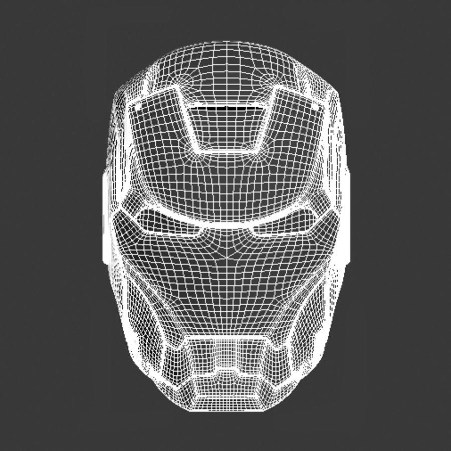 Железный шлем royalty-free 3d model - Preview no. 5