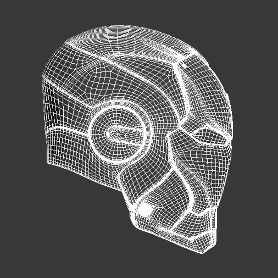 Железный шлем royalty-free 3d model - Preview no. 4