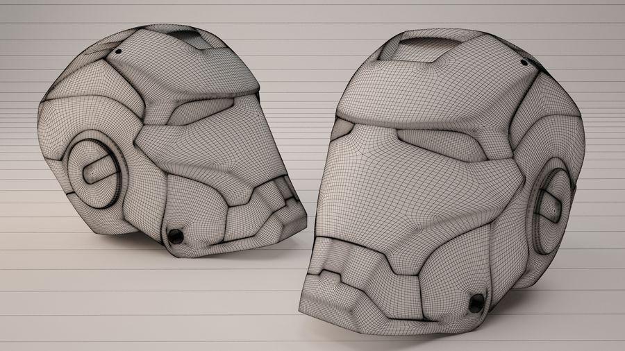 Железный шлем royalty-free 3d model - Preview no. 3