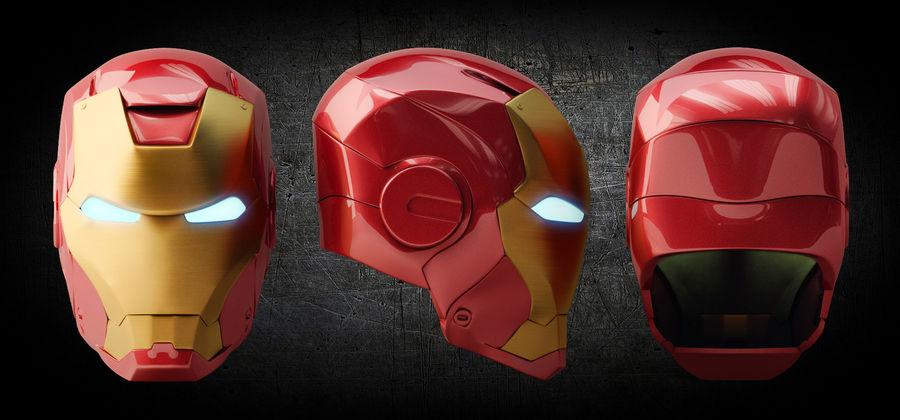 Железный шлем royalty-free 3d model - Preview no. 1