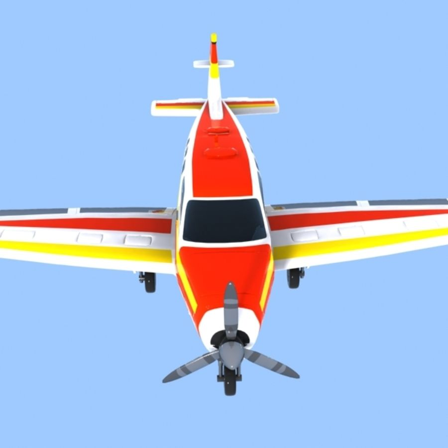 Cartoon Trainer Aircraft 1 royalty-free 3d model - Preview no. 9