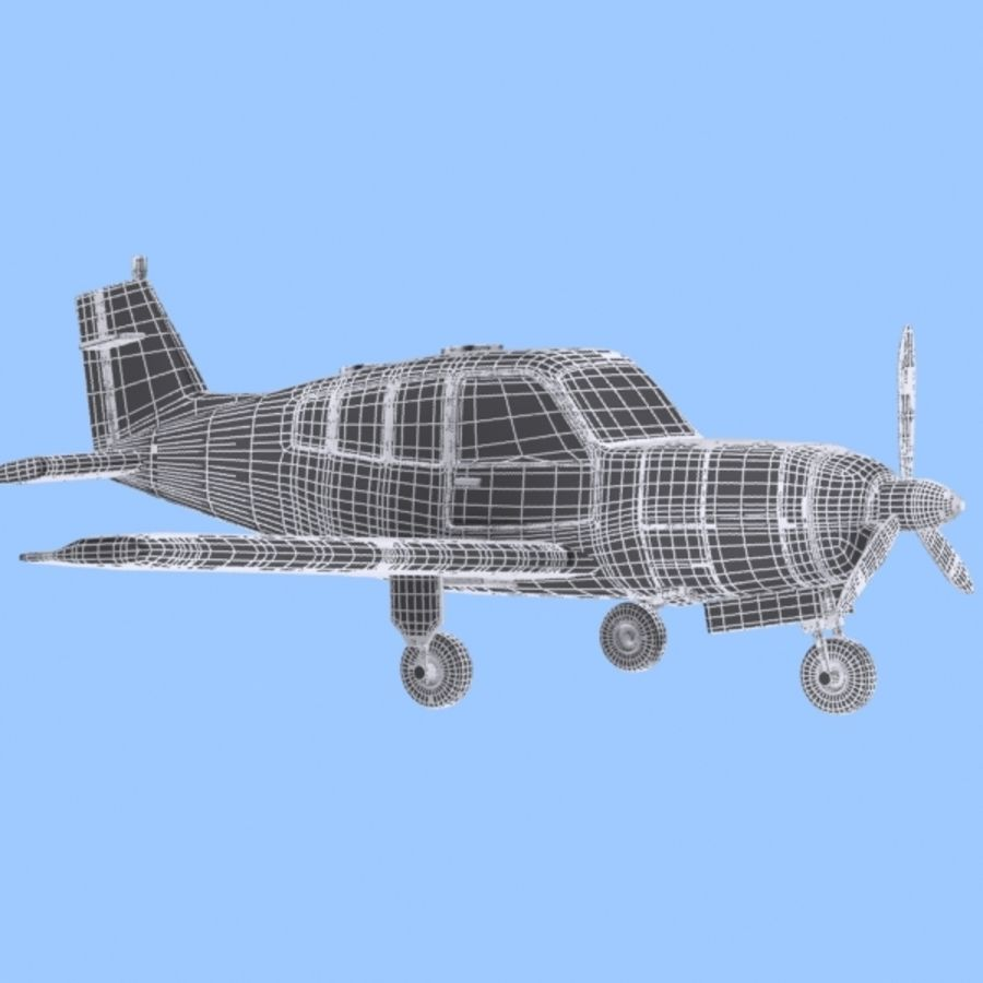Cartoon Trainer Aircraft 1 royalty-free 3d model - Preview no. 12