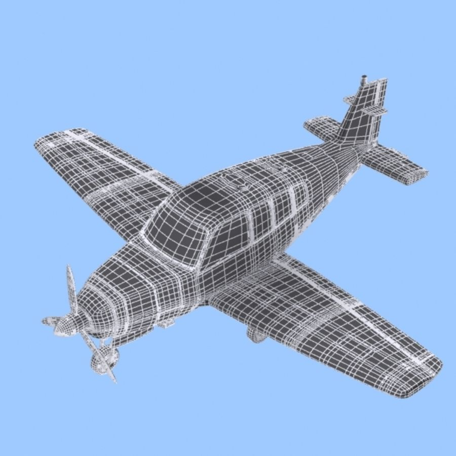 Cartoon Trainer Aircraft 1 royalty-free 3d model - Preview no. 11