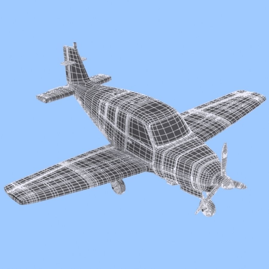 Cartoon Trainer Aircraft 1 royalty-free 3d model - Preview no. 10