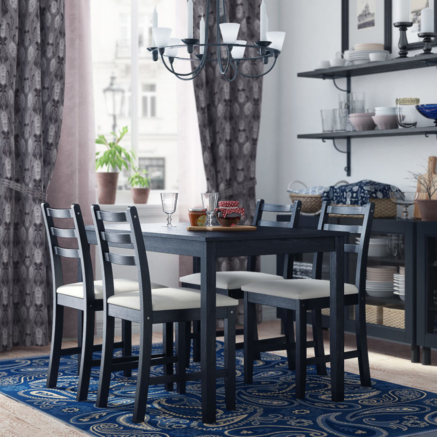 IKEA LERHAMN Dining Room Royalty Free 3d Model   Preview No. 1