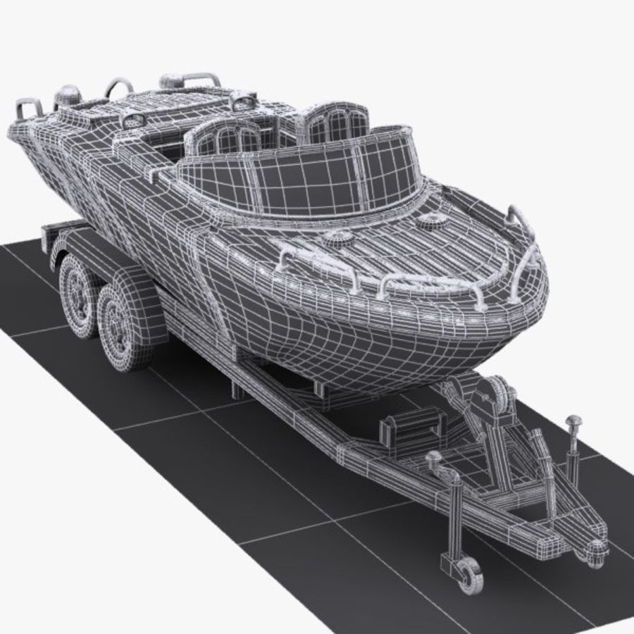 Cartoon Motorboat royalty-free 3d model - Preview no. 10
