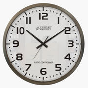 Silver Wall Clock 3d model