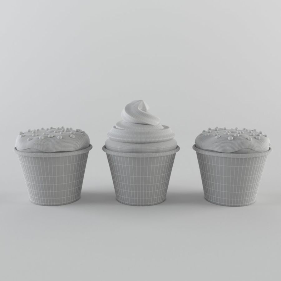 Cupcakes royalty-free 3d model - Preview no. 5