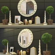 Zestaw dekoracji 2 3d model