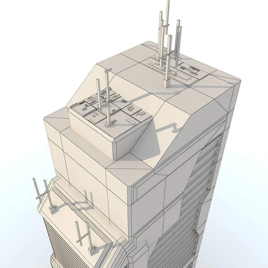 Sci Fi Building O Skyscraper royalty-free 3d model - Preview no. 10