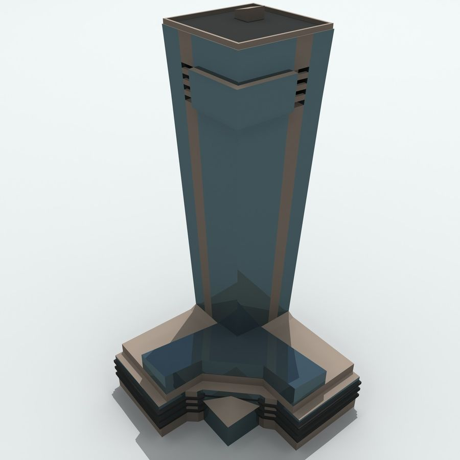 Gebäude der Stadt royalty-free 3d model - Preview no. 19