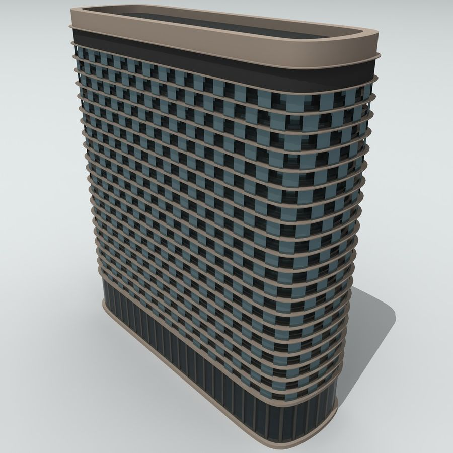 Gebäude der Stadt royalty-free 3d model - Preview no. 17