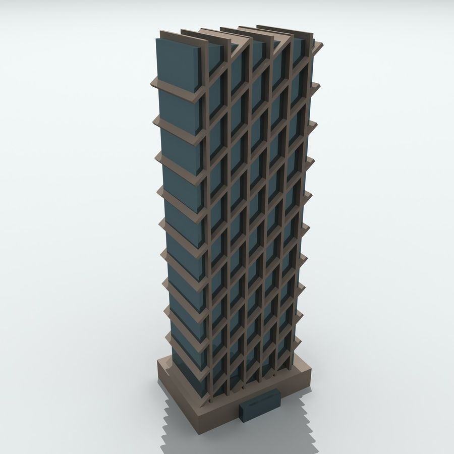 Gebäude der Stadt royalty-free 3d model - Preview no. 28