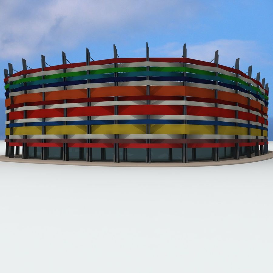 Gebäude der Stadt royalty-free 3d model - Preview no. 12