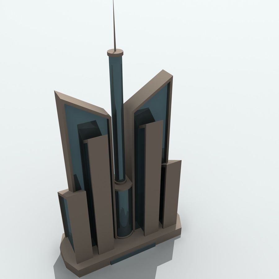 Gebäude der Stadt royalty-free 3d model - Preview no. 26