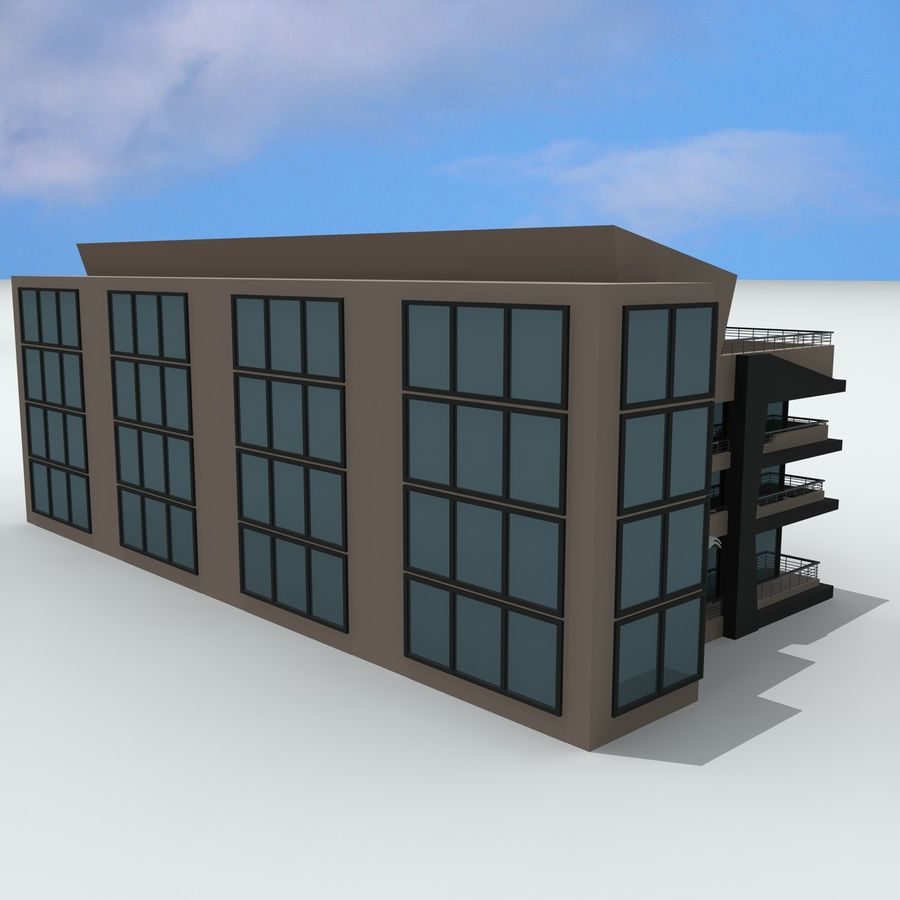 Gebäude der Stadt royalty-free 3d model - Preview no. 10