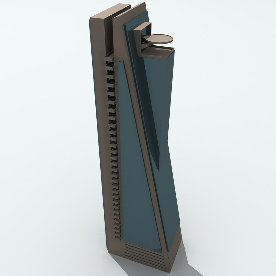 Gebäude der Stadt royalty-free 3d model - Preview no. 22