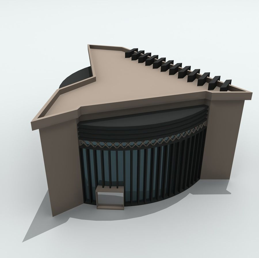 Gebäude der Stadt royalty-free 3d model - Preview no. 5