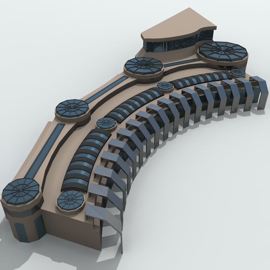 Gebäude der Stadt royalty-free 3d model - Preview no. 13