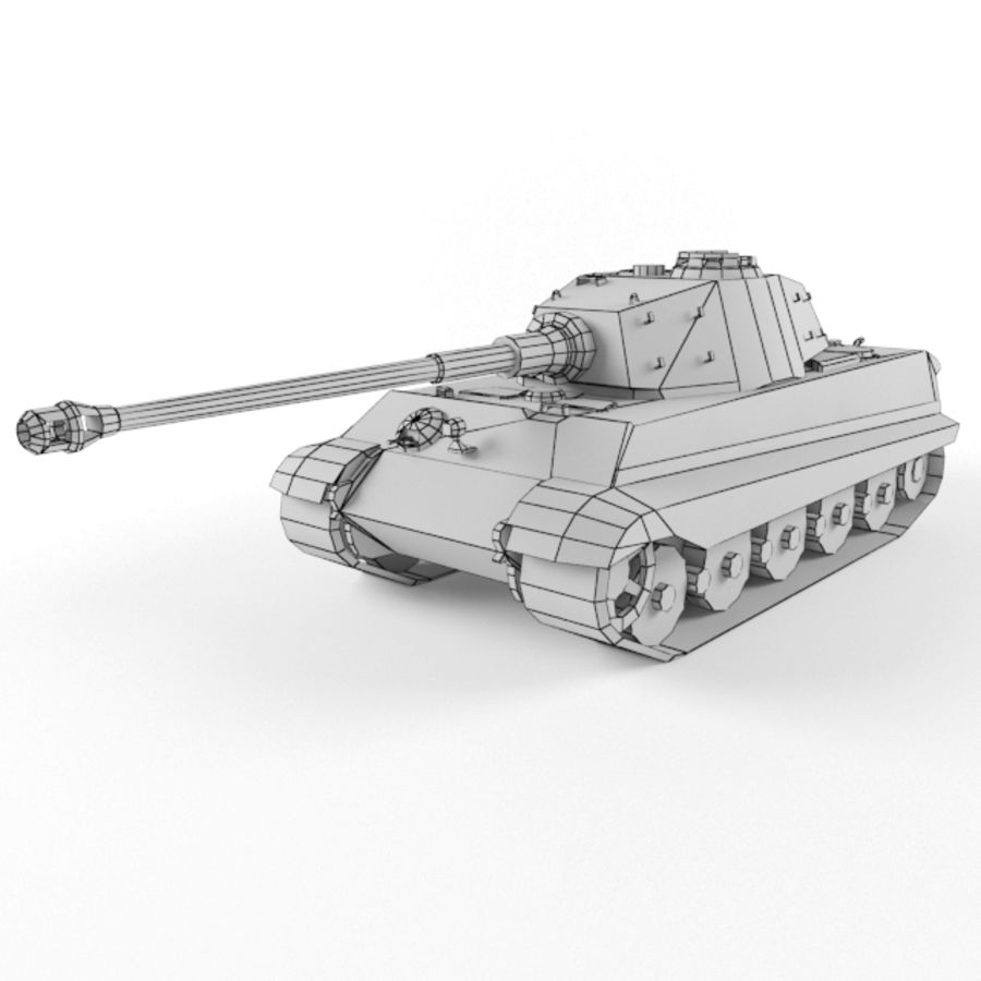 King Tiger royalty-free 3d model - Preview no. 9