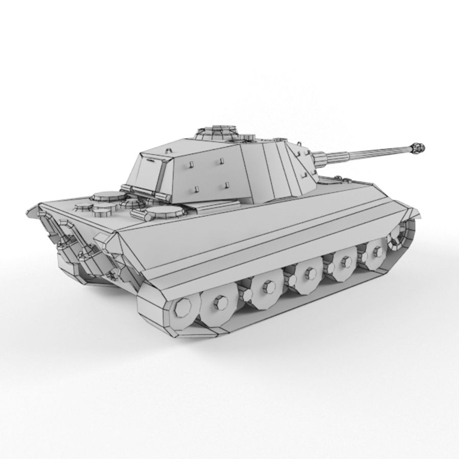 King Tiger royalty-free 3d model - Preview no. 10