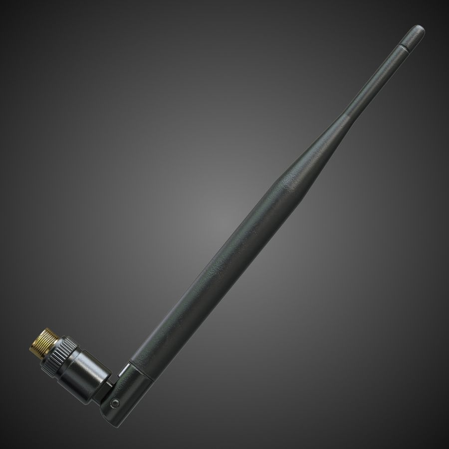 WiFi Antenna royalty-free 3d model - Preview no. 2