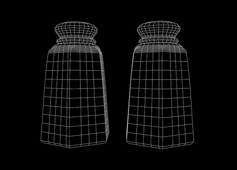 Salt & Pepper Shakers royalty-free 3d model - Preview no. 5