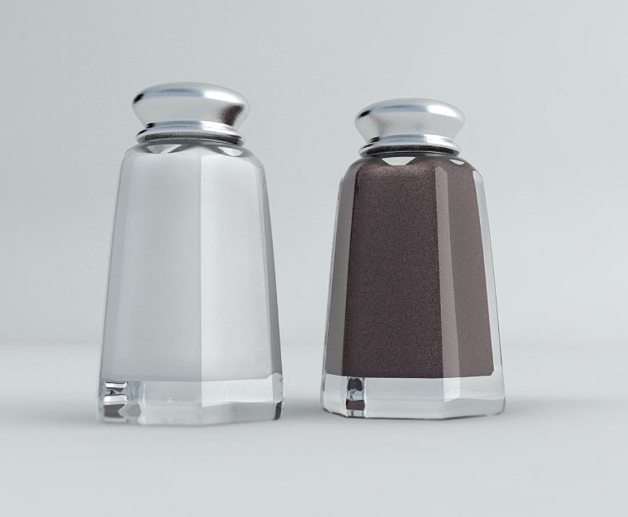 Salt & Pepper Shakers royalty-free 3d model - Preview no. 3