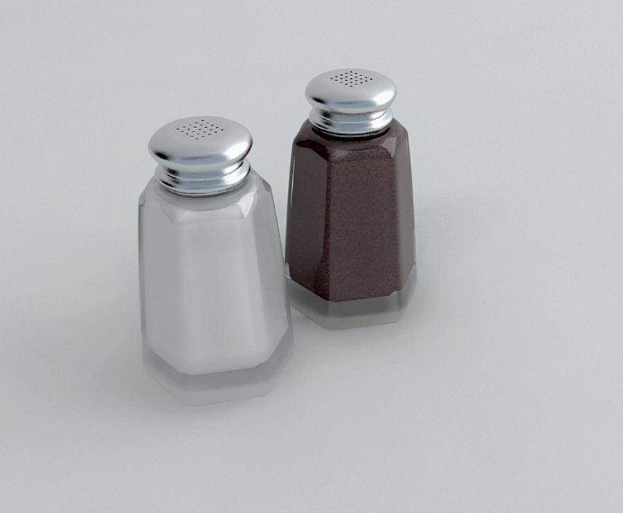 Salt & Pepper Shakers royalty-free 3d model - Preview no. 2