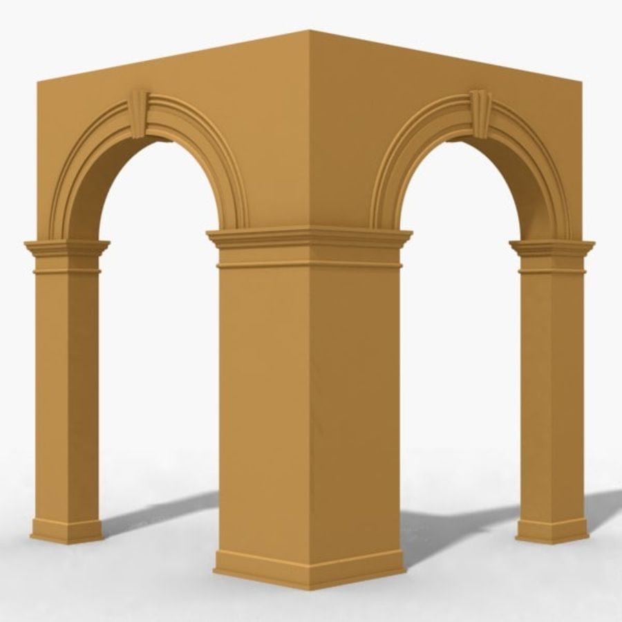 Arch 006 6ft - C1X1 royalty-free 3d model - Preview no. 1