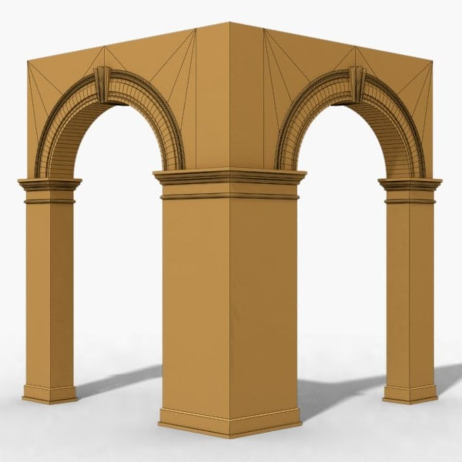 Arch 006 6ft - C1X1 royalty-free 3d model - Preview no. 7