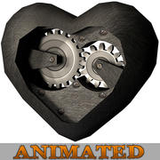 Heart Mechanical Gear 3d model