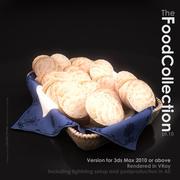Baguettes im Korb 3d model