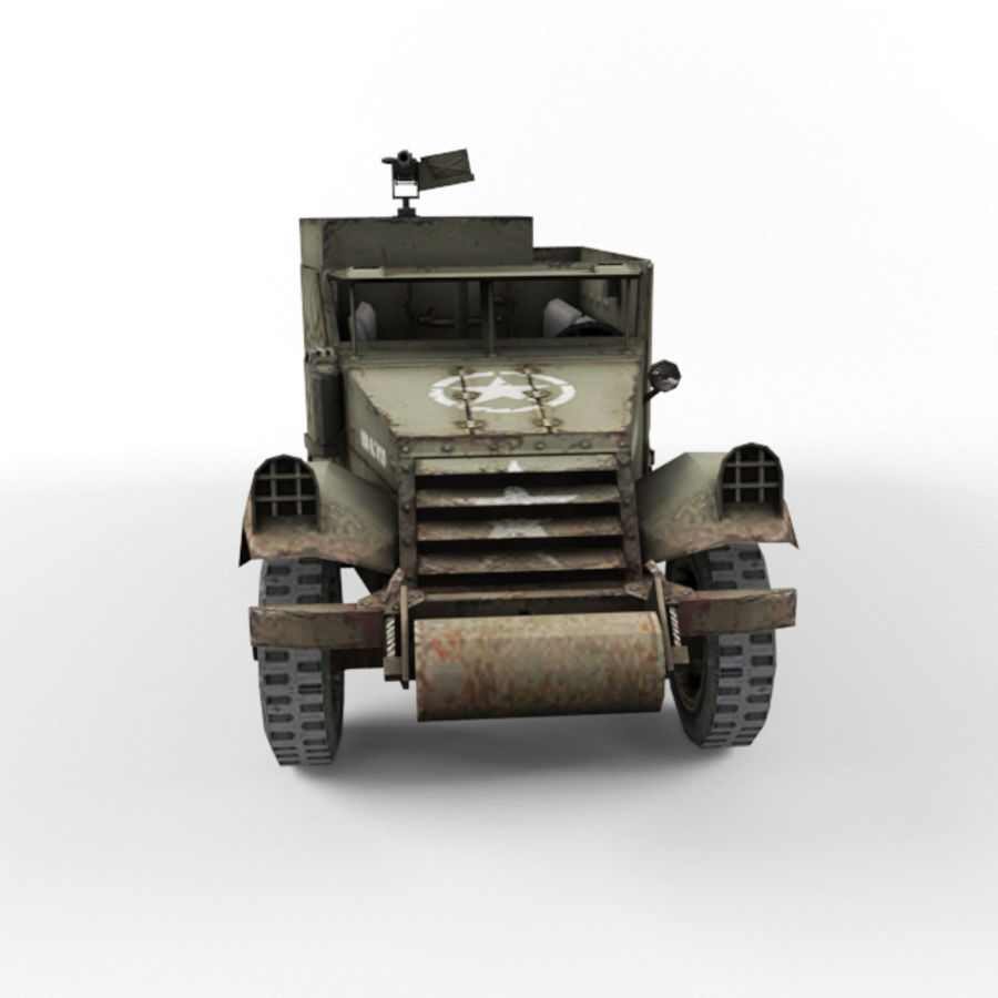 Half-track M3 royalty-free 3d model - Preview no. 8