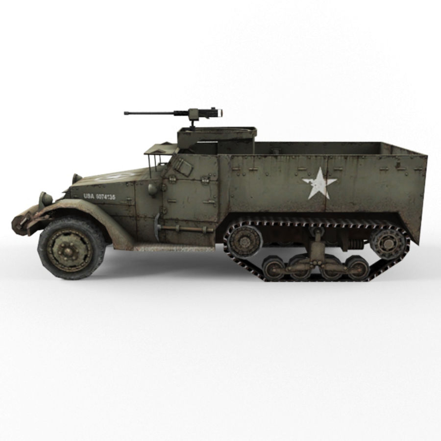 Half-track M3 royalty-free 3d model - Preview no. 2