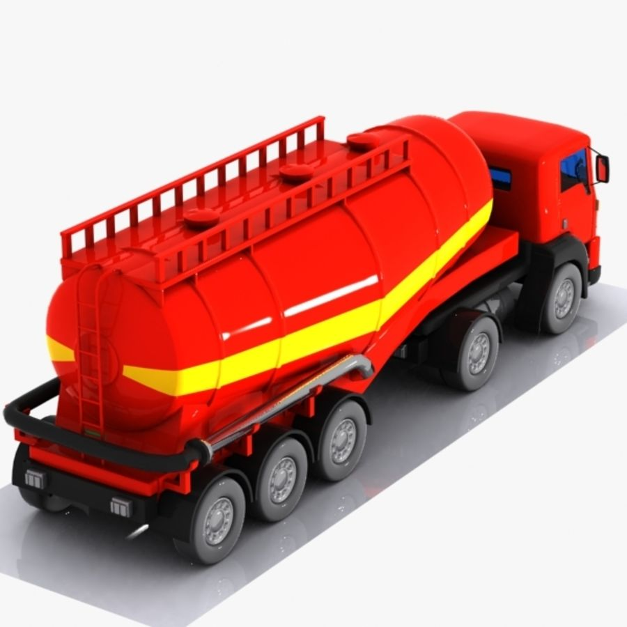 Cartoon V-type Truck royalty-free 3d model - Preview no. 7