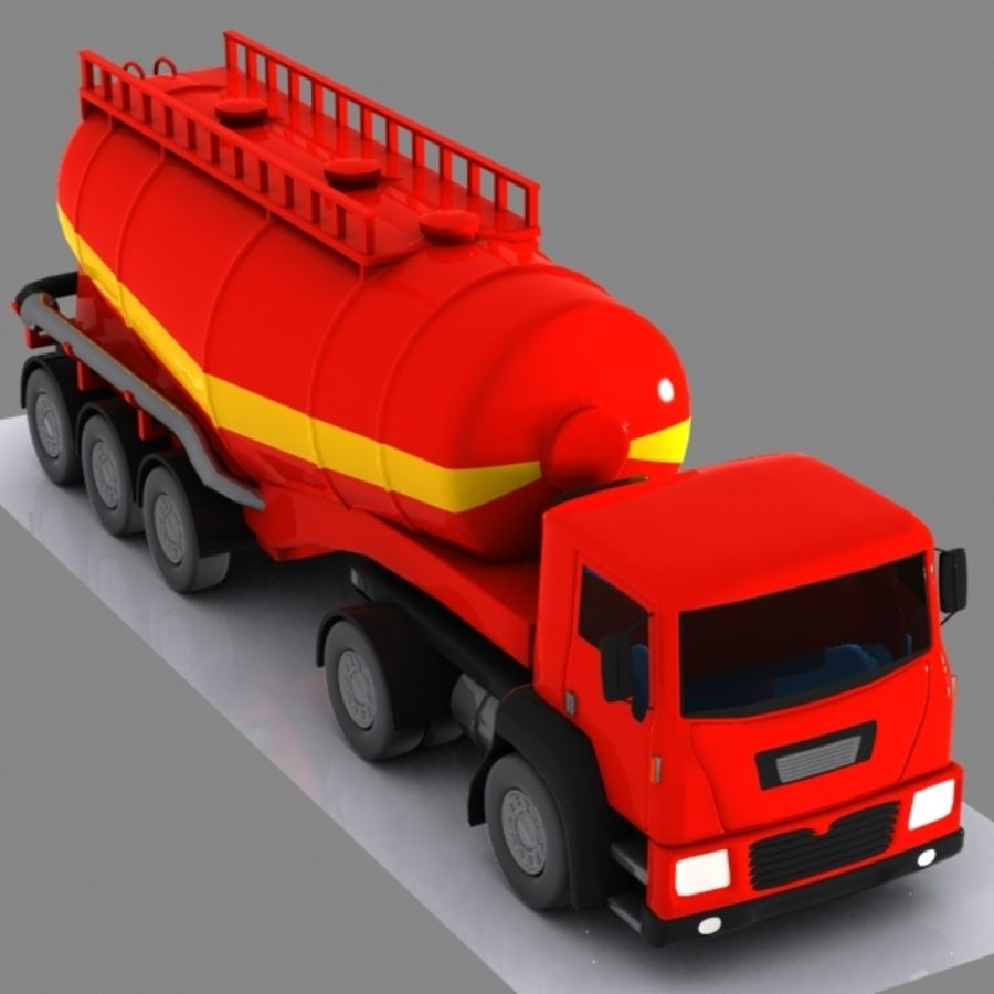 Cartoon V-type Truck royalty-free 3d model - Preview no. 2