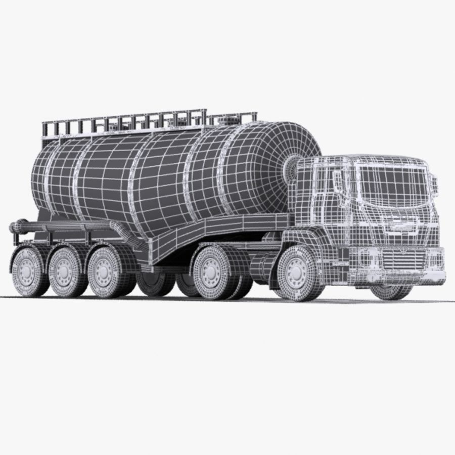 Cartoon V-type Truck royalty-free 3d model - Preview no. 12