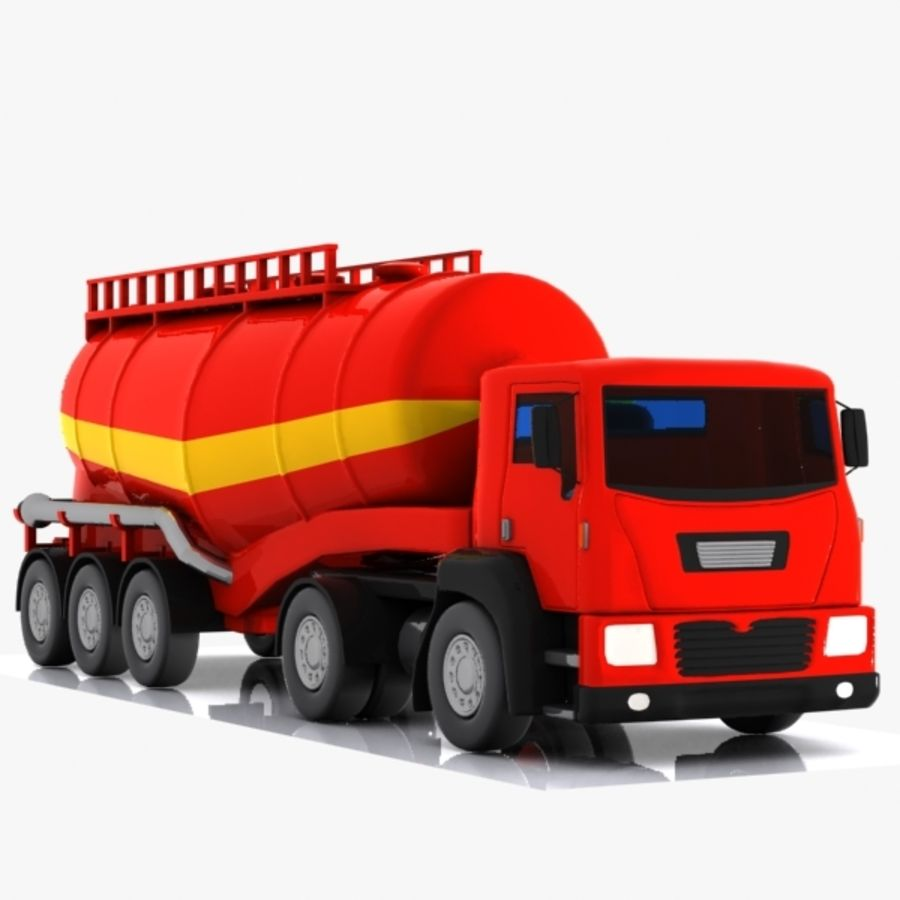 Cartoon V-type Truck royalty-free 3d model - Preview no. 3