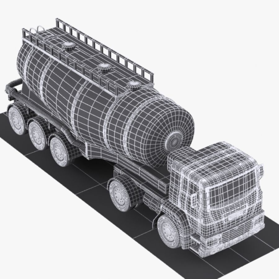 Cartoon V-type Truck royalty-free 3d model - Preview no. 9