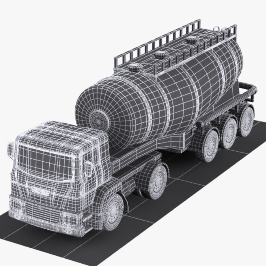 Cartoon V-type Truck royalty-free 3d model - Preview no. 8